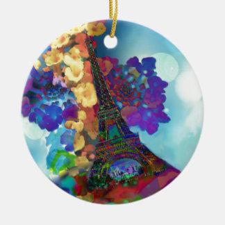Ornamento De Cerâmica Sonhos de Paris das flores