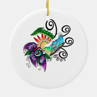 Ornamento De Cerâmica Sonhos do surf do monstro