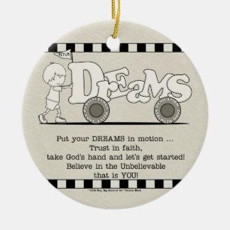 Ornamento De Cerâmica Sonhos no movimento