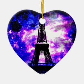 Ornamento De Cerâmica Sonhos parisienses do rosa da ametista