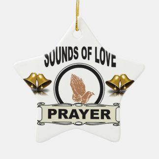 Ornamento De Cerâmica sons do céu do amor