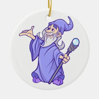 Ornamento De Cerâmica Sorceress roxo mágico do mágico do feiticeiro