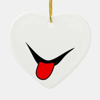 Ornamento De Cerâmica Sorriso - língua
