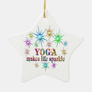 Ornamento De Cerâmica Sparkles da ioga
