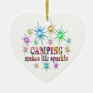 Ornamento De Cerâmica Sparkles de acampamento