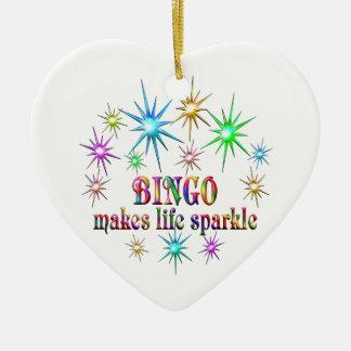 Ornamento De Cerâmica Sparkles do Bingo