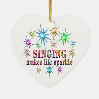 Ornamento De Cerâmica Sparkles do canto