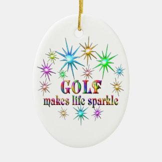 Ornamento De Cerâmica Sparkles do golfe