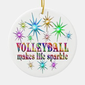 Ornamento De Cerâmica Sparkles do voleibol