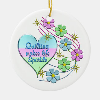 Ornamento De Cerâmica Sparkles estofando