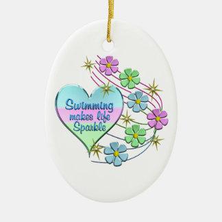 Ornamento De Cerâmica Sparkles nadadores