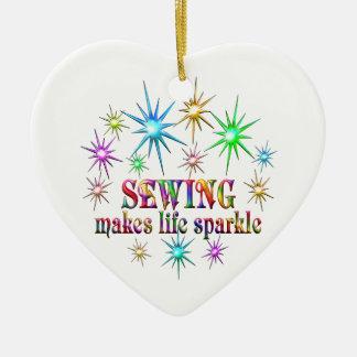 Ornamento De Cerâmica Sparkles Sewing