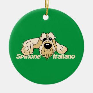 Ornamento De Cerâmica Spinone Italiano cabeça clara Cute