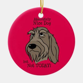 Ornamento De Cerâmica Spinone Nice dog
