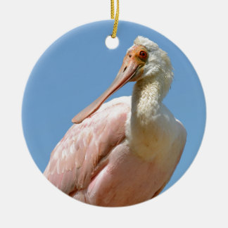 Ornamento De Cerâmica Spoonbill róseo