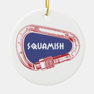 Ornamento De Cerâmica Squamish que escala Carabiner