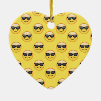 Ornamento De Cerâmica Sr. Refrigerar Óculos de sol Emoji