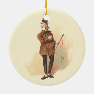 Ornamento De Cerâmica Sr. Wilkins Micawber David Copperfield