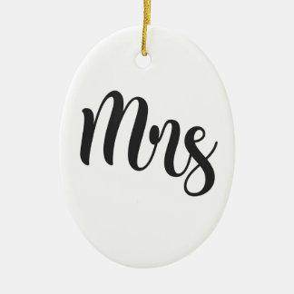 Ornamento De Cerâmica Sra.
