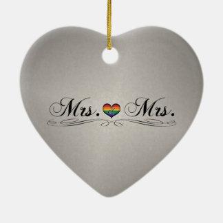 Ornamento De Cerâmica Sra. & Sra. Lésbica Projeto