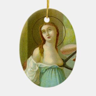 Ornamento De Cerâmica St. Agatha da imagem dobro (M 003)