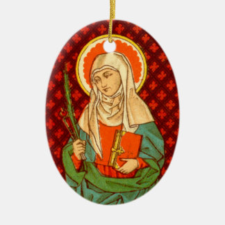 Ornamento De Cerâmica St. Apollonia da imagem dobro (VVP 001)