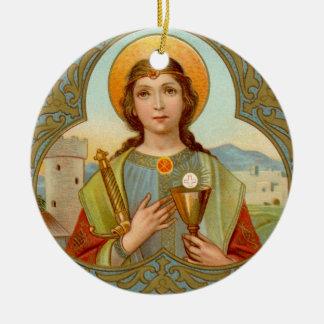 Ornamento De Cerâmica St. Barbara da imagem dobro (BK 001)