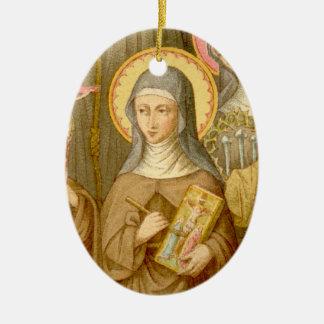 Ornamento De Cerâmica St. Catherine da imagem dobro da Bolonha (SAU 027)