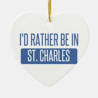 Ornamento De Cerâmica St Charles