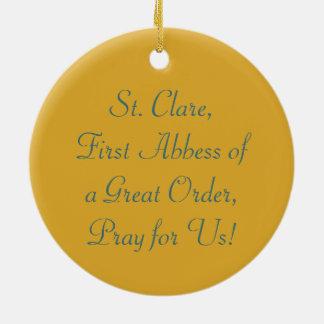 Ornamento De Cerâmica St. Clare de Assisi (SAU 027)