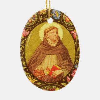 Ornamento De Cerâmica St Dominic frente e verso de Guzman (PM 02)