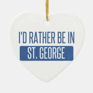 Ornamento De Cerâmica St George