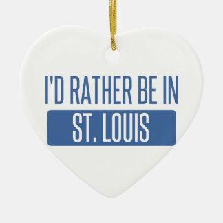 Ornamento De Cerâmica St Louis