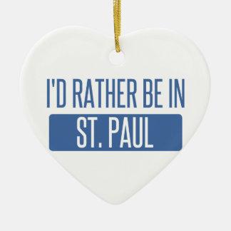 Ornamento De Cerâmica St Paul