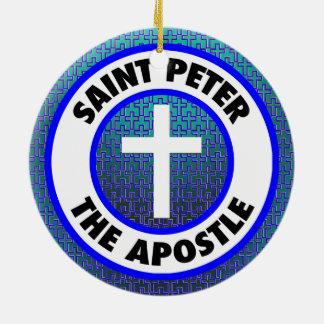 Ornamento De Cerâmica St Peter o apóstolo