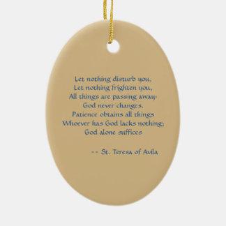 Ornamento De Cerâmica St Teresa do Oval de Avila (SAU 28)