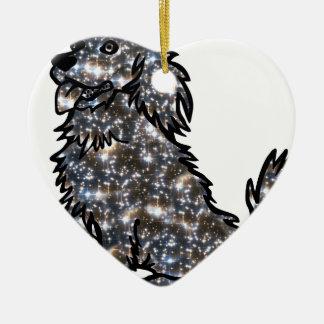 Ornamento De Cerâmica Star_Dog1