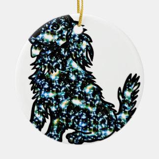 Ornamento De Cerâmica Star_Dog3