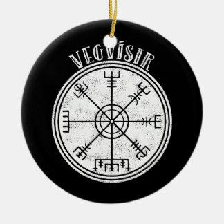 Ornamento De Cerâmica Stave islandês do compasso de VEGVISIR