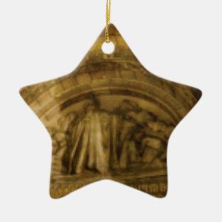 Ornamento De Cerâmica stonework amarelo do arco