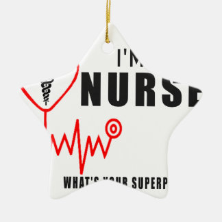 Ornamento De Cerâmica Sua enfermeira da superpotência
