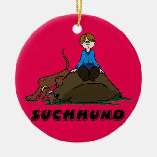 Ornamento De Cerâmica Suchhund