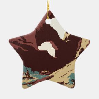 Ornamento De Cerâmica Sudoeste América EUA do poster das viagens vintage