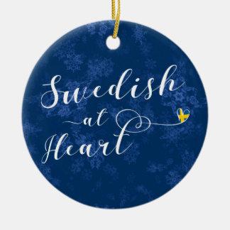 Ornamento De Cerâmica Sueco na decoração do feriado do coração, suecia