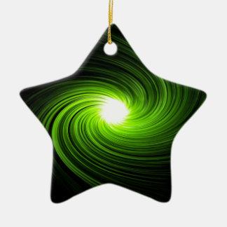 Ornamento De Cerâmica Sumário verde do redemoinho