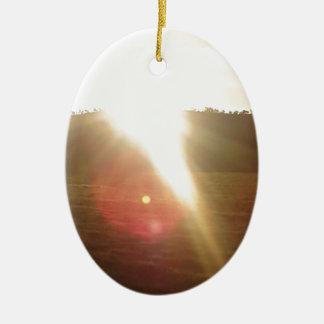Ornamento De Cerâmica Sun dourado 3