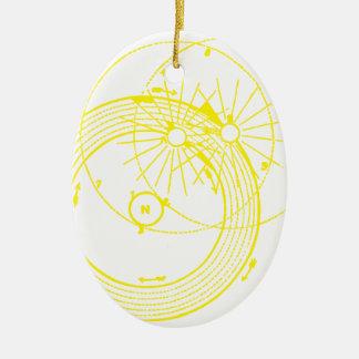 Ornamento De Cerâmica Sun e astronomia Zetetic das órbitas da lua