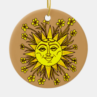 Ornamento De Cerâmica Sunhine