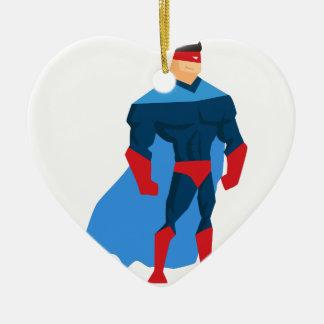 Ornamento De Cerâmica Super-herói na ação