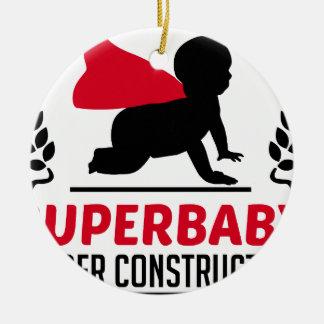 Ornamento De Cerâmica superbaby sob a construção